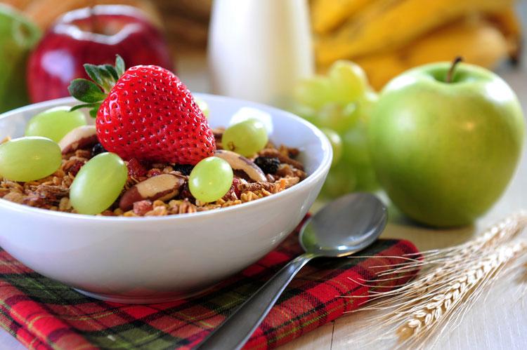 Desayuno saludable y perfecto cuando está apurado