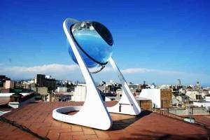 Esfera de cristal gigante que reemplazaría el panel solar
