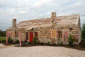 Construir casa de pan de jengibre
