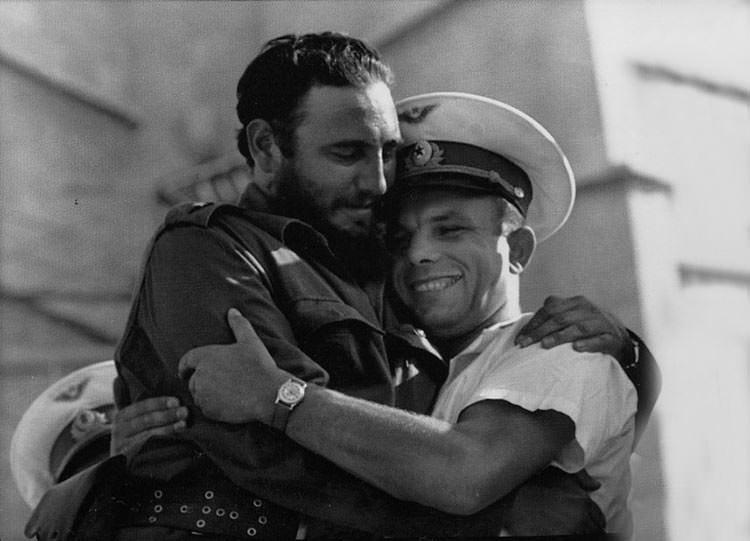 Fidel Castro y Yuri Gagarin