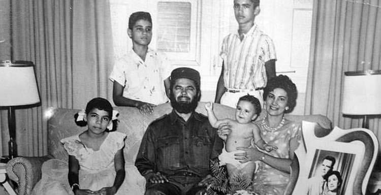 Fidel Castro y su familia