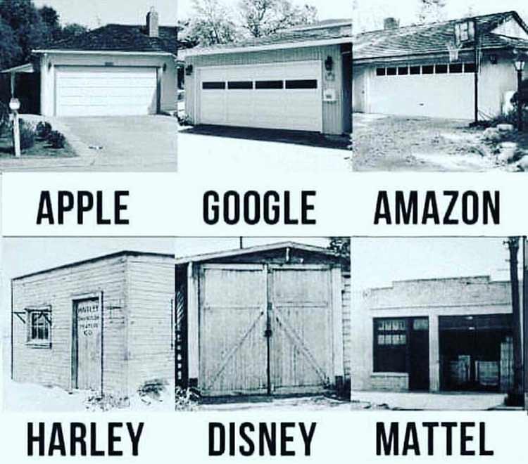 7 empresas famosas que comenzaron en garajes