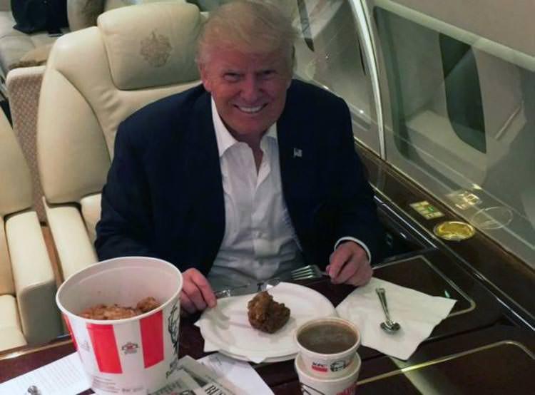 El miedo de Donald Trump en su alimentación