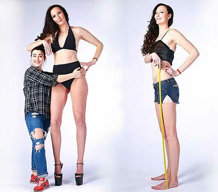 La mujer más alta de Rusia tiene las piernas más largas del mundo y es hermosa