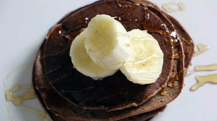Panqueques de chocolate con proteínas - deliciosos